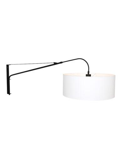 Moderne Bogenlampe schwarz weiß-9321ZW