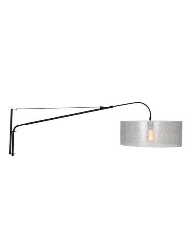 Bogenlampe modern schwarz silber-9322ZW