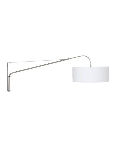 Bogenlampe aus Stahl weiß-9326ST