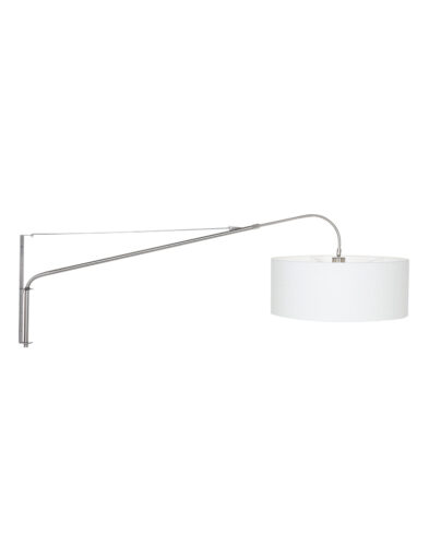 Wandbogenlampe aus Stahl weiß-9328ST
