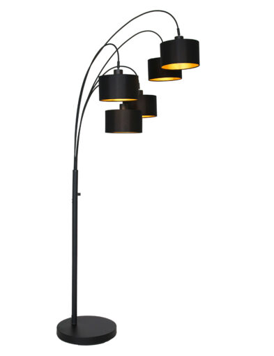 Bogenlampe aus Stoff schwarz-9330ZW