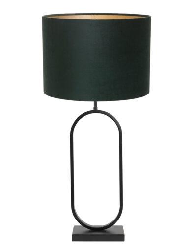 Tischleuchte elegant schwarz und grün-9334ZW