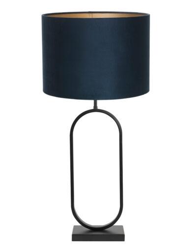 Moderne Tischleuchte schwarz und blau-9335ZW