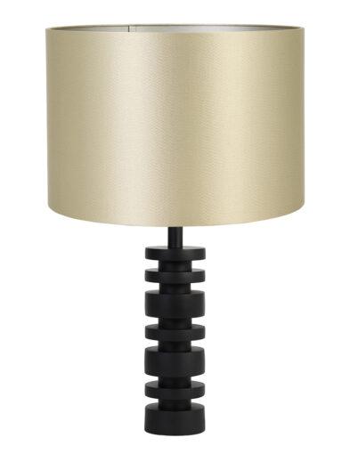 Extravagante Tischleuchte gold und schwarz-9339ZW