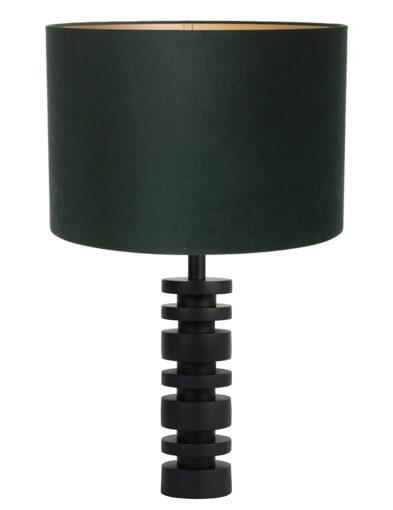Moderne Tischleuchte schwarz und grün-9340ZW