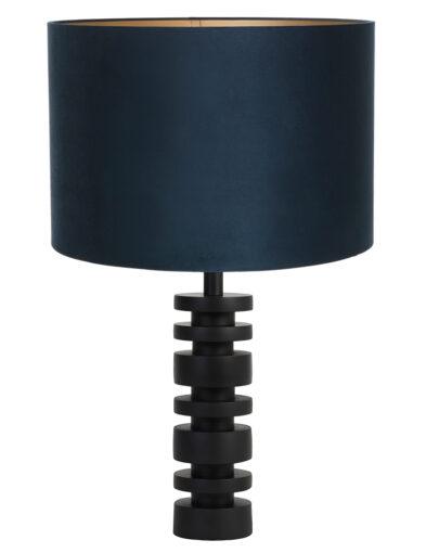 Tischleuchte Samt schwarz und blau-9341ZW