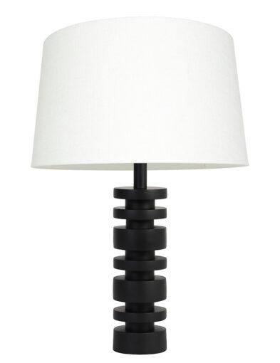 Tischleuchte modern schwarz und weiß-9343ZW