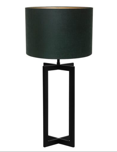 Moderne Tischleuchte grün und schwarz-9346ZW