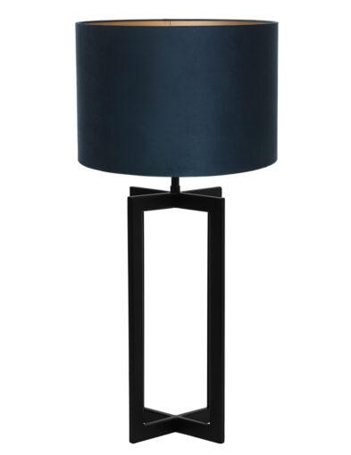 Tischlampe mit schwarzen Lampenfuß blau-9347ZW