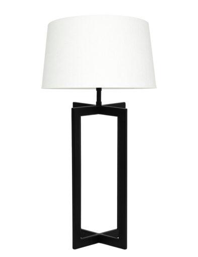 Tischlampe modern schwarz und weiß-9349ZW