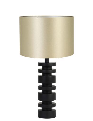 Tischlampe mit goldenem Schirm schwarz-9361ZW