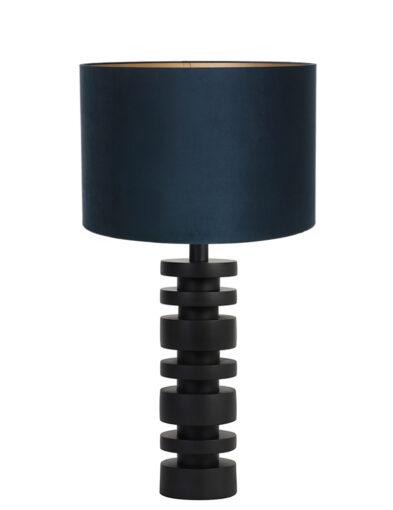 Lampenfuß Scheiben schwarz und blau-9363ZW