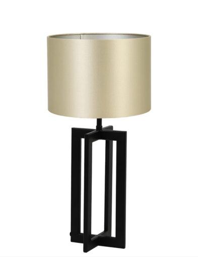 Tischlampe mit goldenem Schirm schwarz-9367ZW