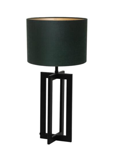 Tischleuchte mit grünem Schirm schwarz-9368ZW
