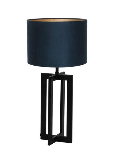 Moderne Tischlampe schwarz und blau-9369ZW