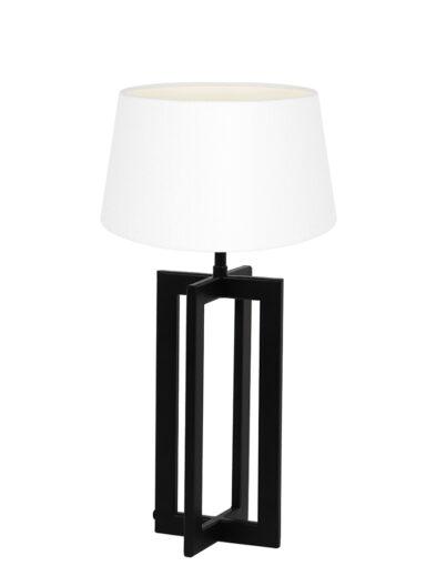Moderne Tischlampe schwarz und weiß-9371ZW