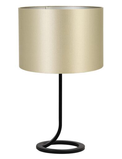 Elegante Tischlampe schwarz und gold-9373ZW