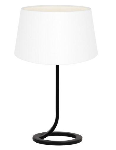 Moderne Tischlampe schwarz und weiß-9377ZW