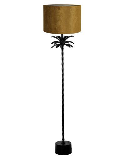 Stehleuchte goldener Schirm schwarz-9382ZW