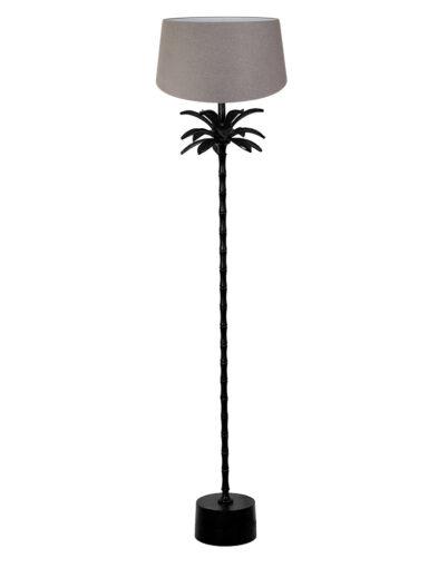 Stehleuchte Palme schwarz und grau-9385ZW