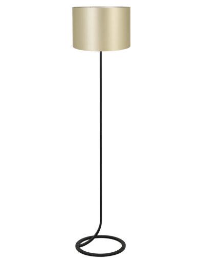 Fließende Stehleuchte schwarz und gold-9387ZW