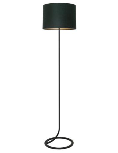 Stehleuchte fließender Lampenfuß Living schwarz und grün-9388ZW