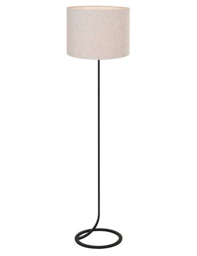 Stehlampe fließender Lampenschirm schwarz und beige-9390ZW