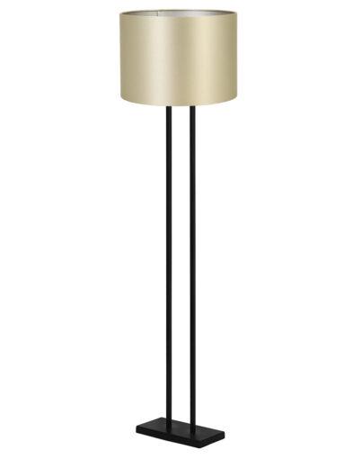 Elegante Stehleuchte schwarz und gold-9393ZW