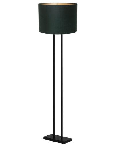 Stehleuchte elegant schwarz und grün-9394ZW