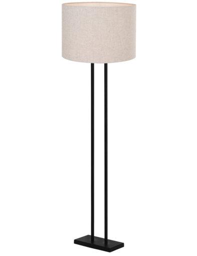 Moderne Stehleuchte schwarz und beige-9396ZW