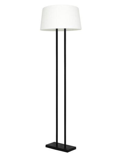 Stehlampe rechteckiger Lampenfuß schwarz und weiß-9397ZW