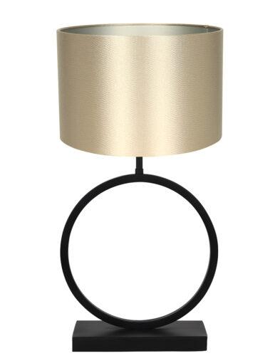Runder Lampenfuß Tischleuchte gold-9399ZW