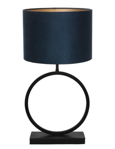 Runder Lampenfuß Tischlampe blau-9401ZW