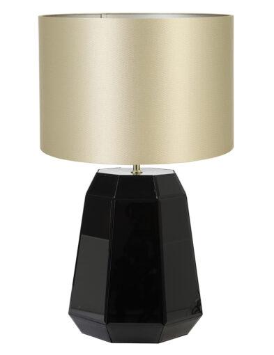 Glänzende Tischlampe schwarz gold-9416ZW