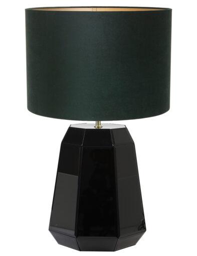 Tischleuchte glänzend grün und schwarz-9417ZW