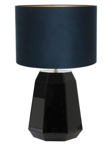 Tischlampe glänzend schwarz blau-9418ZW