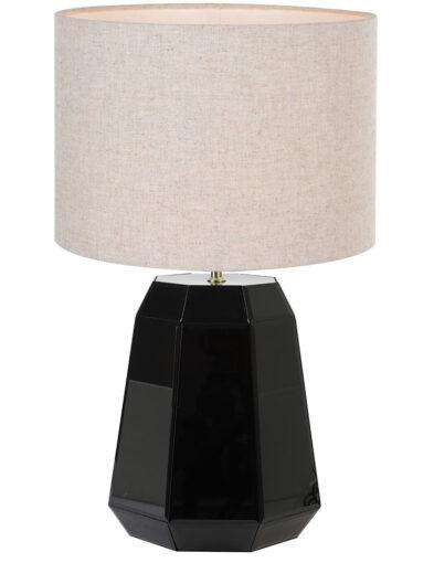 Glänzende Tischleuchte schwarz braun-9419ZW