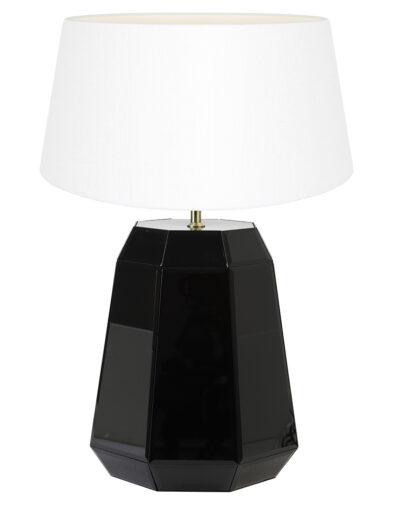 Glänzende Tischleuchte schwarz und weiß-9420ZW