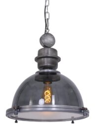Hängeleuchte im Industriedesign transparent ⌀42cm-1452GR